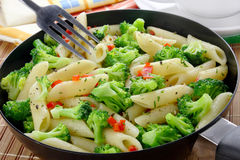 Pasta with broccoli Stock Photo