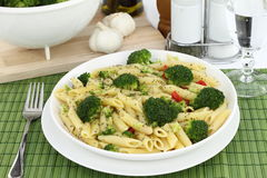 Pasta with broccoli Royalty Free Stock Image