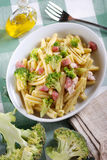 Pasta with broccoli Royalty Free Stock Images