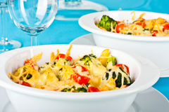 Pasta and broccoli bake Stock Images