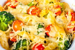 Pasta and broccoli bake Stock Photography