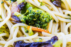 Pasta with broccoli and mushrooms Royalty Free Stock Photos