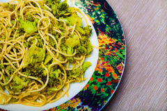 Pasta with broccoli Stock Images