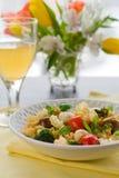 Pasta with broccoli, tomatoes and mozzarella Royalty Free Stock Photos