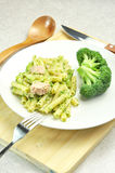 Pasta with broccoli and tunafish Stock Image