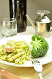 Pasta with broccoli and tunafish Royalty Free Stock Photos