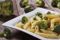 Pasta with broccoli Stock Image