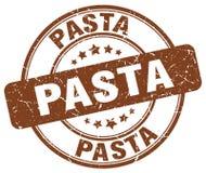 Pasta brown grunge round vintage stamp. Pasta brown grunge round vintage rubber stamp Stock Photos