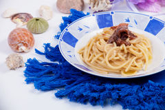 Pasta with Butter and Anchovies Royalty Free Stock Photography