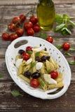 Pasta caprese Stock Images
