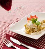Pasta carbonara Royalty Free Stock Image
