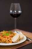 Pasta carbonara Royalty Free Stock Image