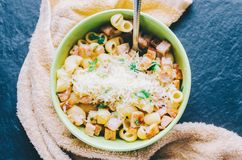 Pasta In Bowl Stock Photo