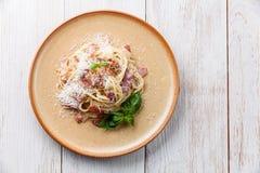Pasta Carbonara Stock Image