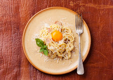 Pasta Carbonara Royalty Free Stock Photo