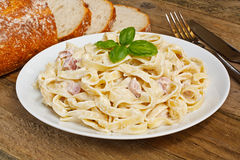 Pasta carbonara Stock Photography