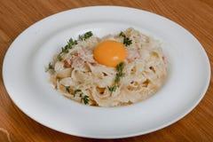Pasta Carbonara.  Royalty Free Stock Images