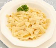 Pasta with carbonara sauce Stock Image