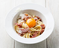 Pasta Carbonara Royalty Free Stock Photos