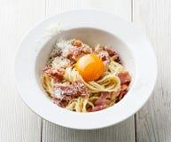 Pasta Carbonara Royalty Free Stock Photos