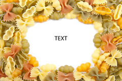 Pasta card Royalty Free Stock Images