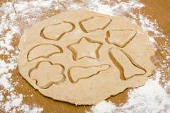 Pasta casalinga del biscotto della noce fotografie stock