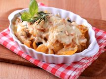 Pasta casserole Stock Photography
