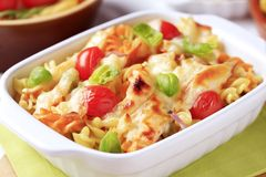 Pasta casserole Stock Images
