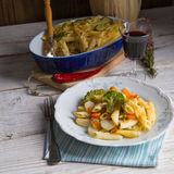 Pasta Casserole with vegetables Royalty Free Stock Images