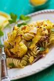 Pasta with  cauliflower Royalty Free Stock Images
