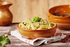 Pasta with cauliflower sauce Stock Images