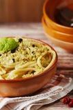 Pasta with cauliflower sauce Stock Photo