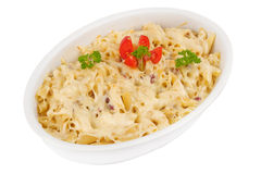Pasta in ceramic bowl Royalty Free Stock Photography