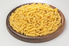 Pasta on a ceramic plate stock photo