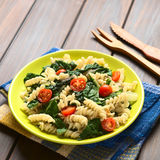 Pasta with Chard and Tomato Stock Photo