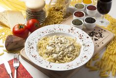 Pasta and cheese Royalty Free Stock Images