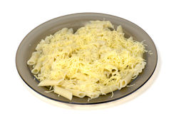 Pasta with cheese Royalty Free Stock Photos