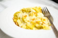 Pasta with cheese and butter Stock Photos