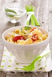 Pasta with cheese and cherry tomatoes Stock Photography