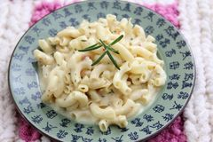 Pasta with cheese Royalty Free Stock Photography