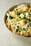 Pasta with cheese and lemon peel Royalty Free Stock Photos