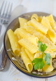 Pasta with cheese Stock Photos