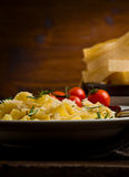 Pasta with cheese and rosemary Royalty Free Stock Photography
