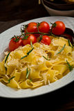 Pasta with cheese and rosemary Royalty Free Stock Photos