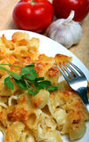 Pasta with cheese sauce Stock Image