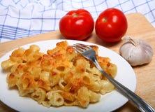 Pasta in cheese sauce horizontal Stock Photo