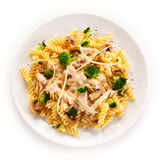 Pasta with cheese Stock Photography