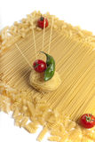 Pasta with cherry tomatoes. Stock Photography