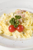 Pasta with cherry tomatoes Royalty Free Stock Photos
