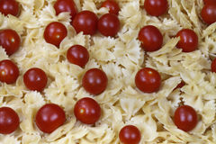 Pasta with cherry tomatoes Royalty Free Stock Image